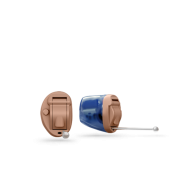Oticon_Invisible_in_canal_IIC_hearing_aid_in_Beige__Blue_Transparent